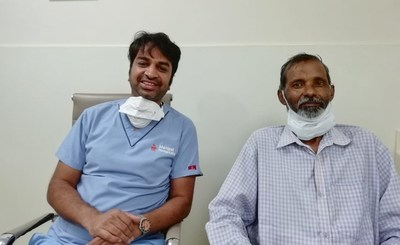 Patient Abdus Samad with Dr. Goutham Kumar Mehta
