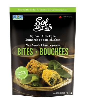 Sol Cuisine's Spinach Chickpea Bites, available at all Costco locations in Western Canada (CNW Group/Sol Cuisine Inc.)