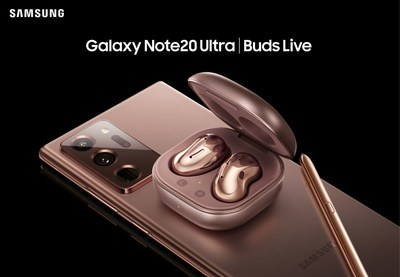 Samsung Galaxy Note20 Ultra 5G and Samsung Galaxy Buds Live (CNW Group/Samsung Electronics Canada Inc.)