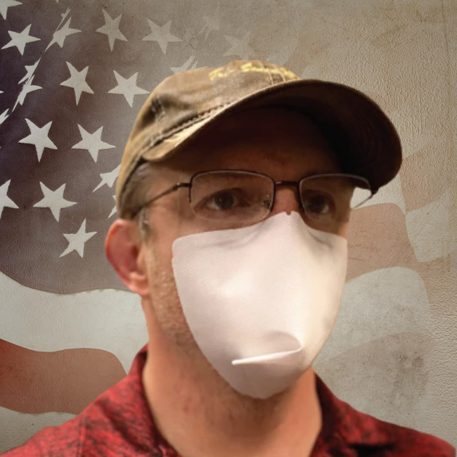 US Navy Veteran John Clary owner of One & Done Mask