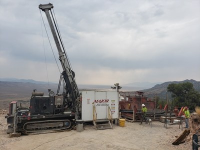 Image 1: Diamond Drill Rig Setup at High Grade Kinsley Mountain Western Flank Gold Zone (CNW Group/New Placer Dome Gold Corp.)