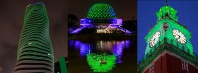 Monumentos Iluminados en el marco de Premios Latinoamérica Verde