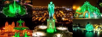 La región iluminó sus monumentos más emblemáticos para celebrar la séptima edición de Premios Latinoamérica Verde desde Guayaquil Ecuador