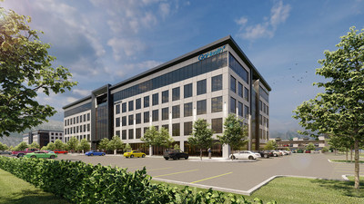 Digital rendering of new GoHealth Lindon office by MHTN Architects, Inc.