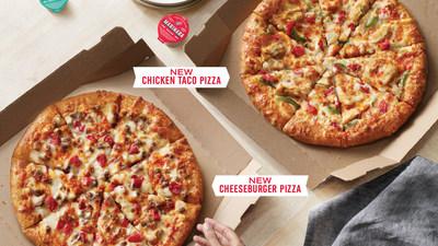 Ahora Domino's ofrece dos nuevas y deliciosas pizzas de especialidad: la pizza de taco de pollo y la pizza de hamburguesa con queso