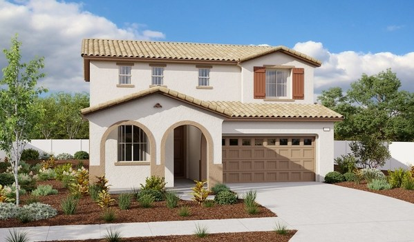 The Citrine plan is one of two new model homes at Richmond American's Seasons at Summerly community in Lake Elsinore, California.