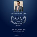 Tim Sayed MD MBA, FACS wins Top Plastic Surgeon West and Top Aesthetic Doctor in the Aesthetic Everything® 2020 Aesthetic and Cosmetic Medicine Awards