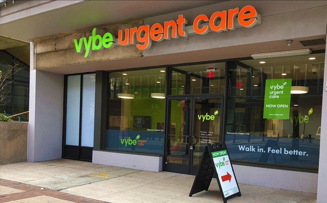 vybe urgent care at 618 Market Street is convenient to Old City and Washington Square.
