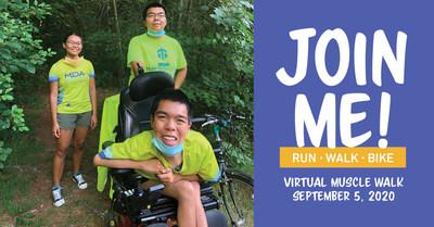 Join alumni MDA National Ambassador Justin Moy and his family for Virtual MDA Muscle Walk.