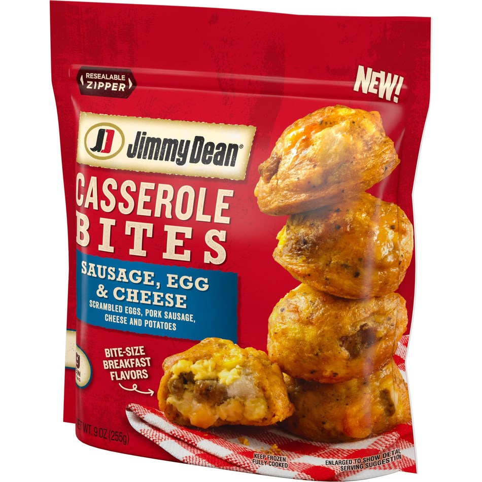 Available nationwide this fall, Jimmy Dean Casserole Bites Sausage, Egg & Cheese feature scrambled eggs, pork sausage, cheese and potatoes.