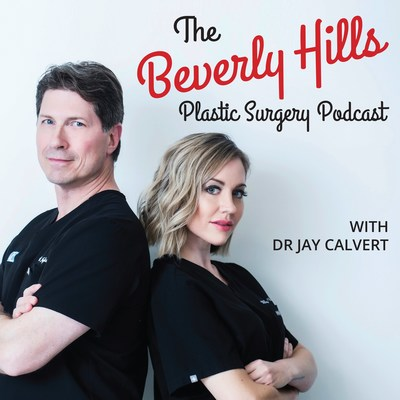 The Beverly Hills Plastic Surgery Podcast with Dr Jay Calvert is hosted by Dr Jay Calvert with his co-host, Dr Millicent Rovelo. These two Board Certified Plastic Surgeons cover all topic related to plastic surgery and aesthetic medicine. This podcast is found of Apple Podcasts and Google Play Podcasts. Dr Calvert and Dr Rovelo have covered topics from Rhinoplasty, Breast Augmentation, Liposuction, Breast Reconstruction to Facelifts, artistry in plastic surgery, microneedling, and more. (PRNewsfoto/Roxbury Surgical Associates)