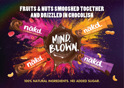 Are you a chocolover looking for a healthy alternative? Then you'll go crazy for Nákd's Drizzled Chocolish bars. They have a fruit and nut centre which is dipped and drizzled in rich Chocolish – Nákd's wholefood answer to Chocolate. They add dreamy indulgence to everyday snacking and are made with 100% natural ingredients, contain no added sugar and count as one of your 5 a day…Mind.Blown!