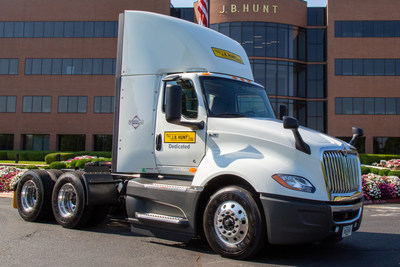 Navistar delivers 5,000th International LT Series, complete with custom commemorative decal, to flagship customer, J.B. Hunt.