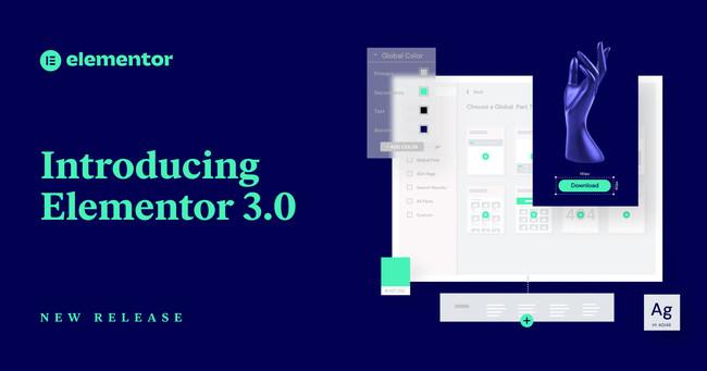 Elementor releases version 3.0 (PRNewsfoto/Elementor)