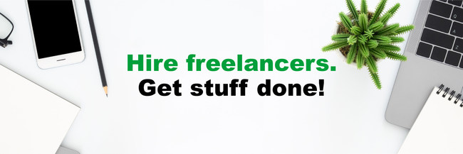 Hire freelancers. Get stuff done!