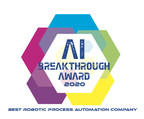 Blue Prism Named Best Robotic Process Automation Company in 2020 by Artificial Intelligence Breakthrough Awards Program