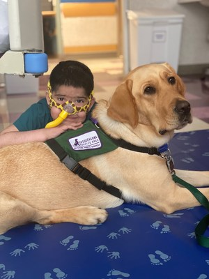 Children's Hospital of Philadelphia (CHOP) has officially welcomed its first, full-time trained facility dog, who will help ease anxiety and reduce stress for young patients and their families.