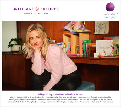 Sarah Michelle Gellar, the popular U.S. television actress, producer, and entrepreneur, has been announced by CooperVision as the spokesperson for its Brilliant Futures™ Myopia Management Program.