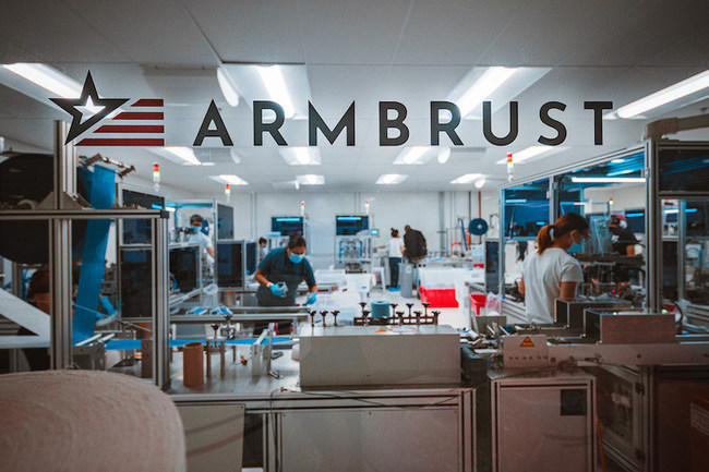 Armbrust American's Austin,Texas area medical mask production facility. Photo by Alex Smith.