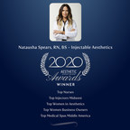 "Natausha Spears, RN, BS of Injectable Aesthetics wins ""Top Nurse"", ""Top Injector Midwest"", ""Top Women in Aesthetics"", ""Top Women Business Owners"" and ""Top Medical Spa Middle America"" in the Aesthetic Everything® 2020 Aesthetic and Cosmetic Medicine Awards"