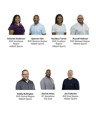 Hibbett & City Gear Field Leadership Team (Top L to R) Schanen Anderson, Spencer Holt, Kandace Turner, Russell Hallman (Bottom L to R) Robby Bullington, Derrick Hines, Joe Fullerton