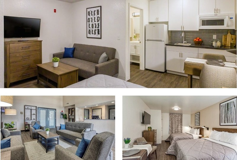 *Items shown above and listed below may vary depending on suite type and size across InTown Suites.