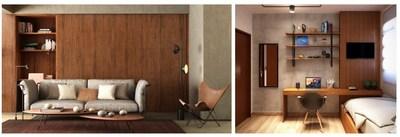 Arauco em dois momentos. À esquerda projeto da Par Projetos Arquitetura e à direita da arquiteta Natália Lima.