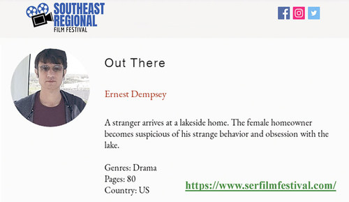 Ernest Dempsey, Out There debut screenplay