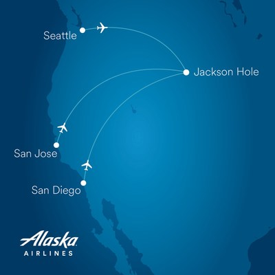 Pack your skis! Alaska Airlines announces new nonstop flights to Jackson Hole
