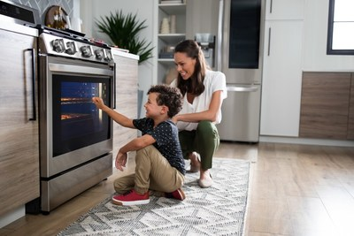 """With more Americans cooking at home than ever, LG Electronics USA (https://www.lg.com/us) is helping provide meal inspiration and faster, more convenient prep with the introduction of the industry's first line of smart ranges to offer the exclusive LG InstaView™ """"knock on"""" technology plus Air Fry."""