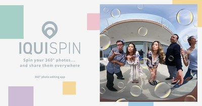 The new IQUISPIN smartphone app breathes new life into 360 cameras and images! It lets you add automated movement and fun effects to photos taken with any 360-degree camera. The resulting mini-videos can be easily shared over social media.