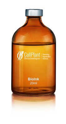 CollPlant's rhCollagen based BioInk - the ideal building block for tissue and organ manufacturing (PRNewsfoto/CollPlant)