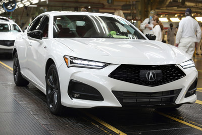 Acura celebrates the mass-production start of the all-new 2021 Acura TLX sport sedan today at Honda of America Mfg.'s Marysville Auto Plant in Ohio.