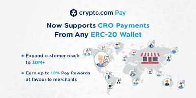 Crypto.com Pay Now Powers CRO Payments From Any ERC-20 Wallet.