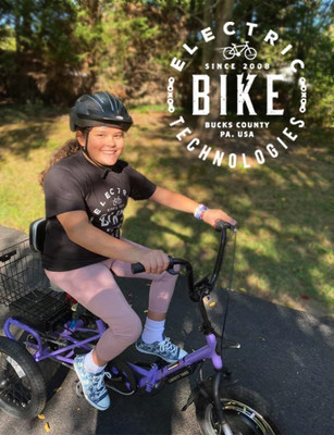 Allison, an 11-year-old girl with SMA, is enjoying her Liberty Trike donated to her by Electric Bike Technologies.
