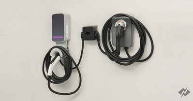 NeoCharge Dual-Car Smart Splitter allowing two EVSE's to share one 220v outlet.