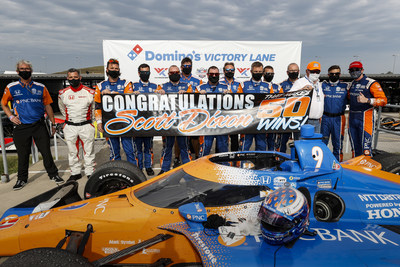 Scott Dixon won for the fourth time this year, and the sixth win for Honda in eight races, as he scored his 50th career victory today at World Wide Technology Raceway near St. Louis, Mo.