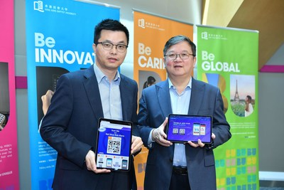 Professor Guo Yike (right), Vice-President (Research and Development) of HKBU, and Professor Xu Jianliang (left), Associate Head and Professor of the Department of Computer Science at HKBU, say the HKBU COVID-19 alert system can protect individuals' privacy.