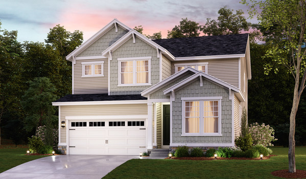 The Fleming is one of eight Richmond American floor plans offered at The Heritage at Two Rivers in Odenton, Maryland.