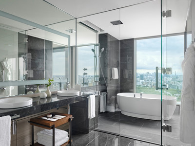 Spa-like bathrooms provide a home away from home.