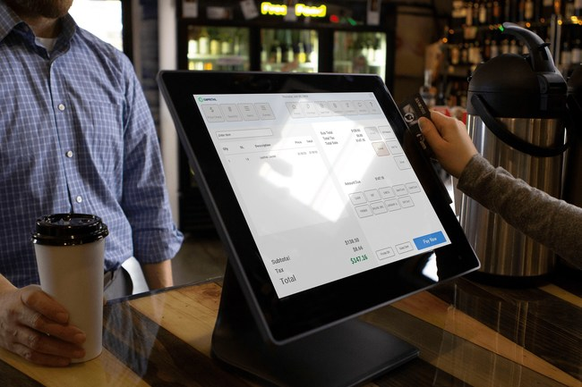This image features the new CAP Retail software on an all-in-one touchscreen PC ? our standard point of sale solution.