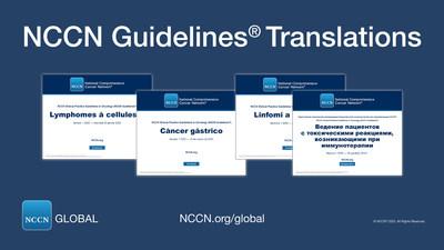 Las traducciones de las NCCN Guidelines® pueden descargarse en forma gratuita en NCCN.org/global o bien a través de la Biblioteca Virtual gratuita de la App NCCN Guidelines®.