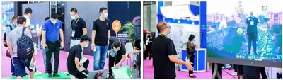 Visitors interact with the products at LED CHINA