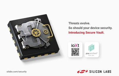 Silicon Labs Secure Vault is here, featuring cutting-edge IoT device security. Secure Vault products have earned Arm PSA Certified Level 2 security certification as well as IoXt Alliance SmartCert IoT security.