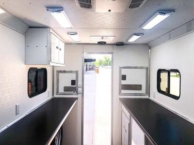A look at the inside of a PTR Mobile Tech Trailer. These units are available for purchase or rent.