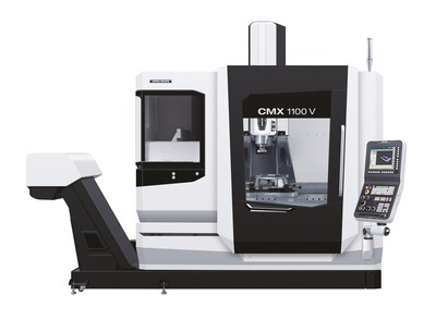 """MIdwest Precision's DMG Mori CMX1100V Vertical Mill is connected to Versa Built's X-160 with ABB IRB1200 Robot Automation Cell. The new DMG Mori Vertical Mill also features: Axis Travels: X=43.3"""", Y=22.0"""", Z=20.1""""   55.1"""" x 22.0""""; Control F0iMF; 15,000 min-1 inline MASTER Spindle; Center Through-Spindle Coolant System; 60 tool storage capacity; Chip Conveyor; In-machine measuring system (spindle, table) Renishaw + W Setter."""