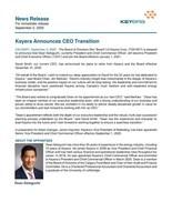Keyera Announces CEO Transition (CNW Group/Keyera Corp.)