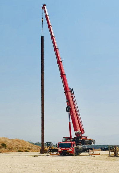 Zion Oil & Gas, Inc. Setting the MJ02 conductor pipe at pad site in Israel on August 31, 2020.