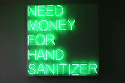 Dunn's neon works convey her perspective on social agendas and contemporary existence.