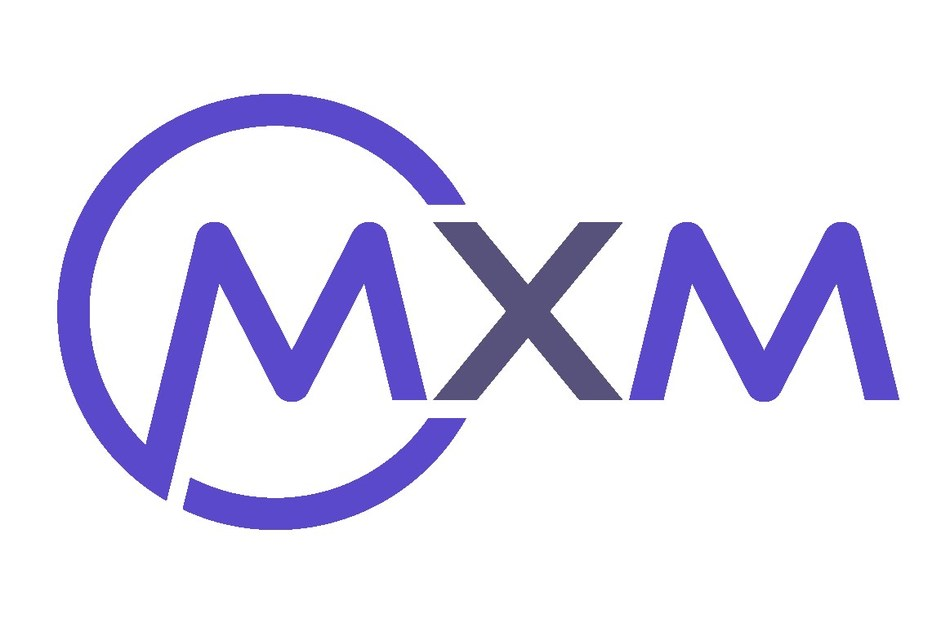 Logo for MXM, a technology and knowledge transfer company specializing in member tracking within the fitness industry